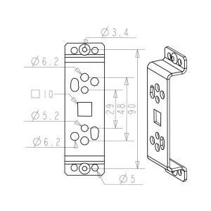 support moteur tiroir zf b296